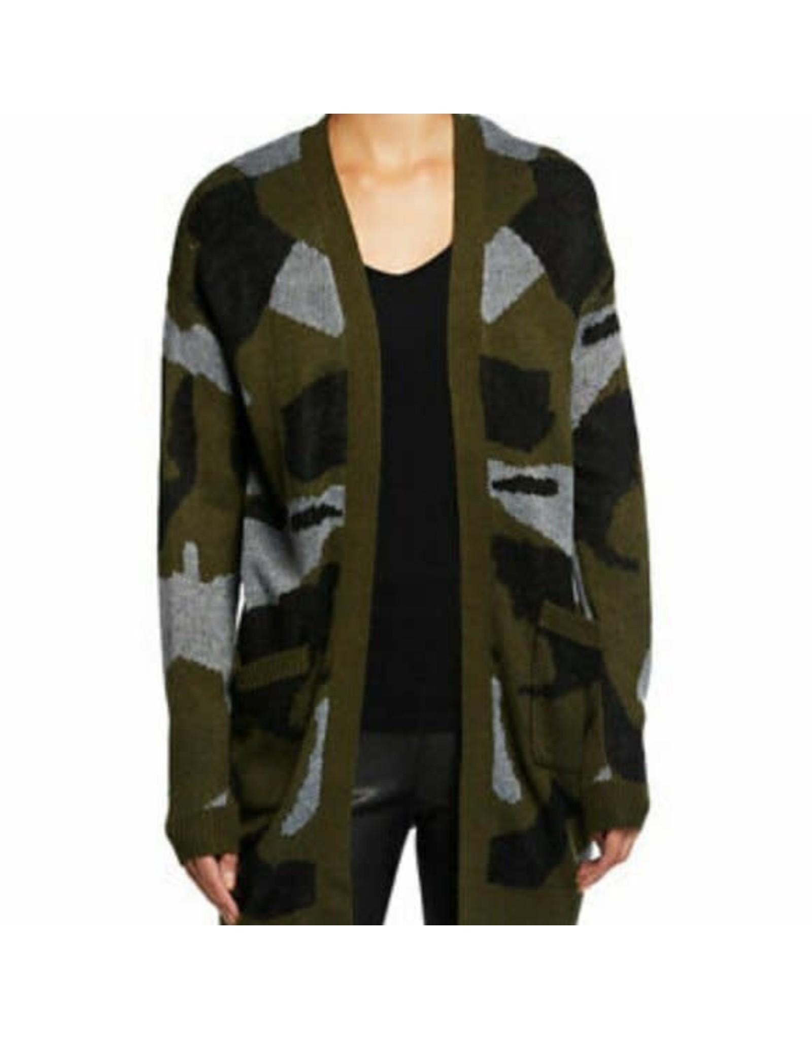 Dex Sweater Open Cardigan Camo
