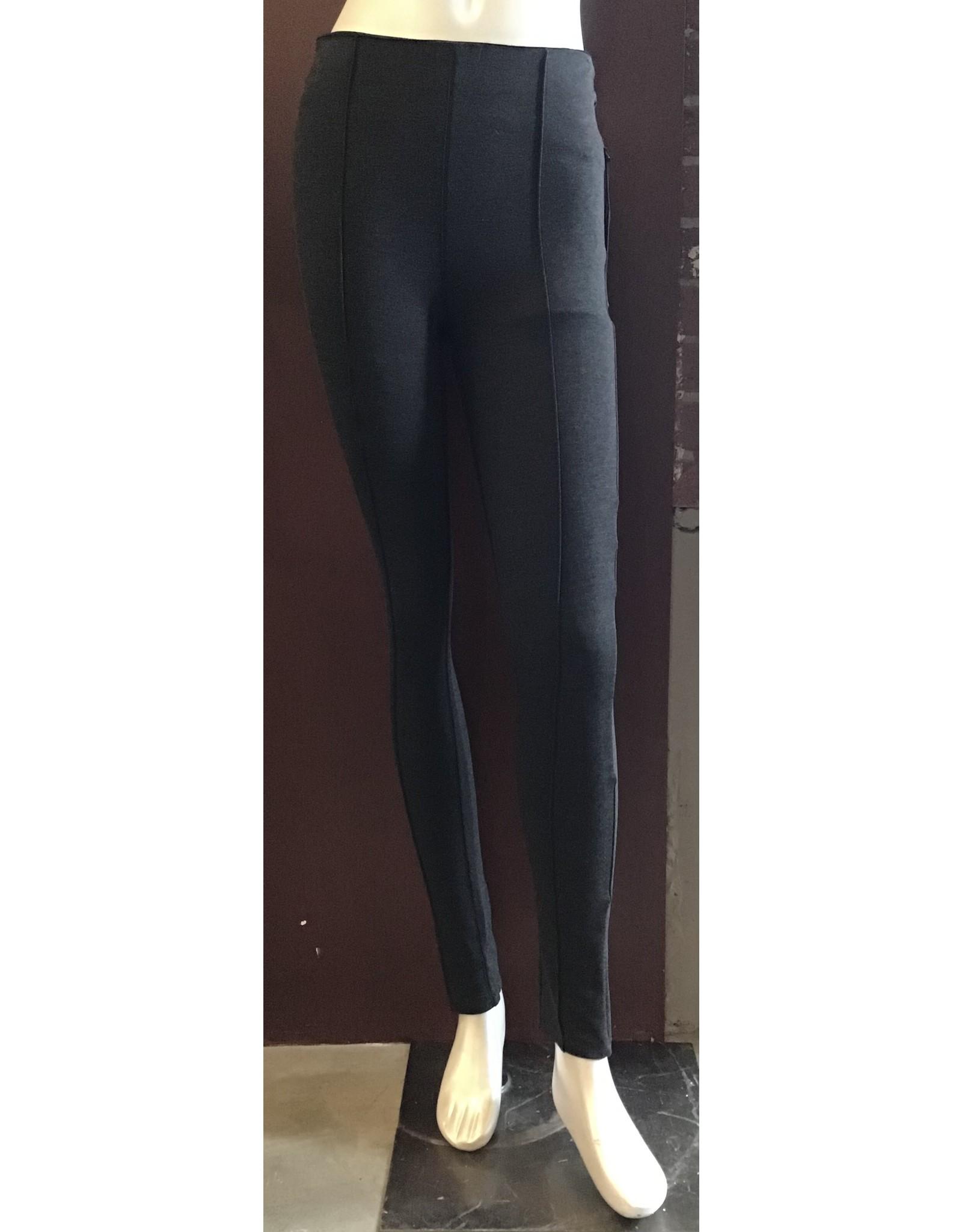 Black Tape Leggings Pintuck Grey