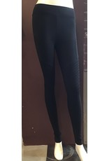 Black Tape Leggings Biker Black XSmall