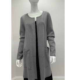 Tribal Duster With Pockets, Grey