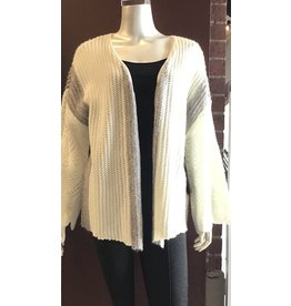 Tribal Cardigan Sweater White