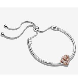 Pandora Pandora Gift Set,B801506-2, Sparkling Entwined Hearts Bracelet Set