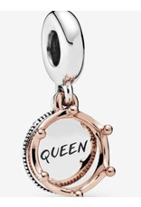Pandora Pandora Charm,788255, Queen Crown Sterling Silver, and Rose Gold