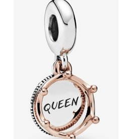 Pandora Pandora Charm,788255 , Queen Crown Sterling Silver, and Rose Gold