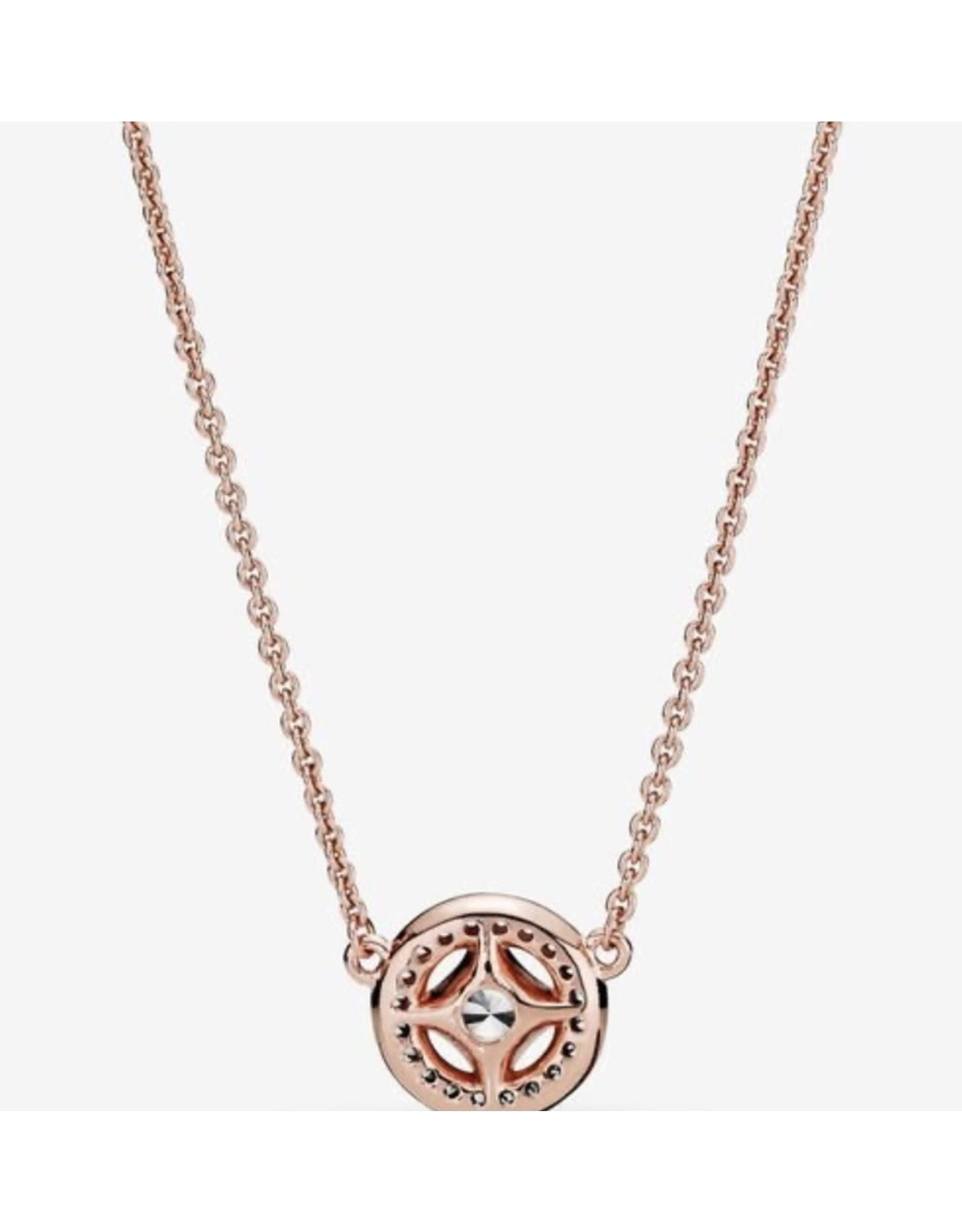 Pandora Pandora Necklace,380523CZ-45, Vintage Circle, Rose Gold