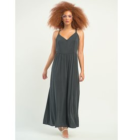Panelled Wide Leg Jumpsuit, Dark Grey