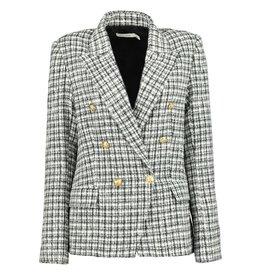 Vintage Parisian Blazer, Black/White