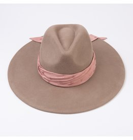 Lucca Couture Stardust Bandana Wool Fedora-Latte