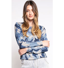 The Camo Sweater, Blue