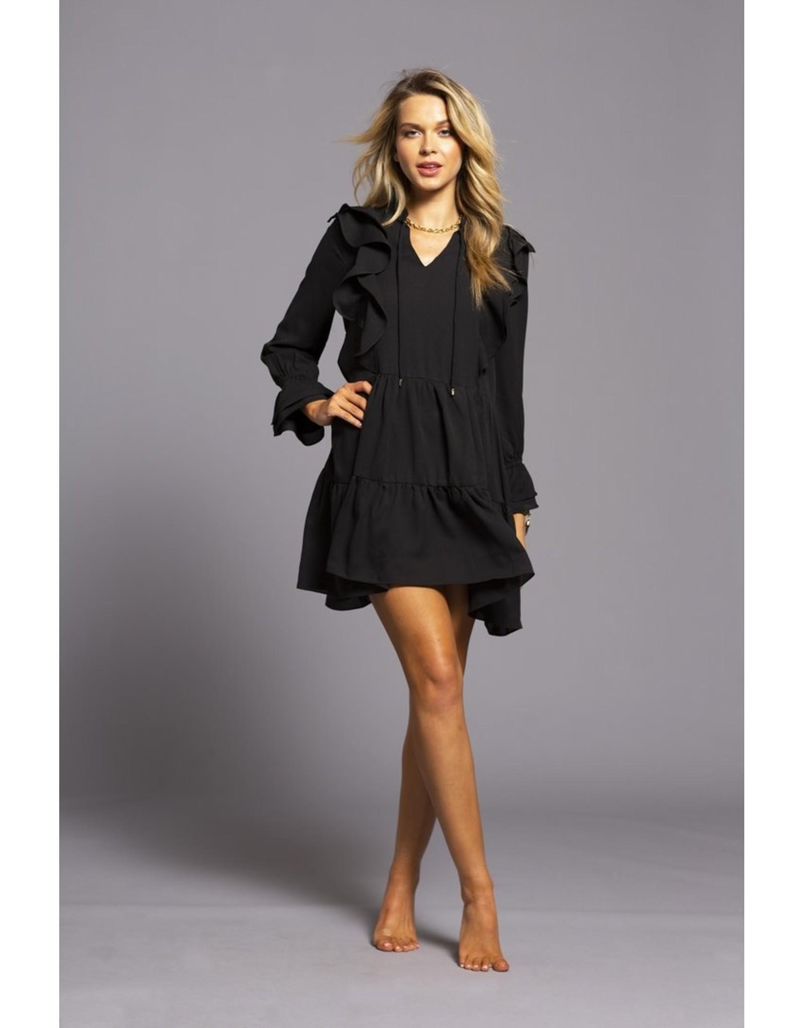 Caroline Ruffle Detail Dress