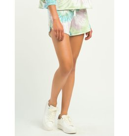 Multi Colored Tie Dye Short, Pastel