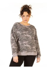 Long Sleeves Oversized Camo Pullover