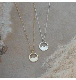 Glee jewelry Diamond Head Necklace/Silver