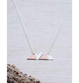 Glee jewelry Gabribaldi Necklace/Silver, Rose Gold