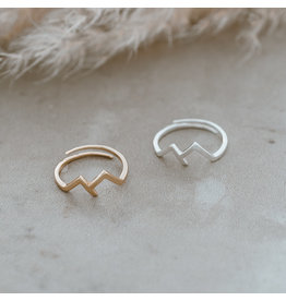 Glee jewelry Rocky Mountain Ring/Silver