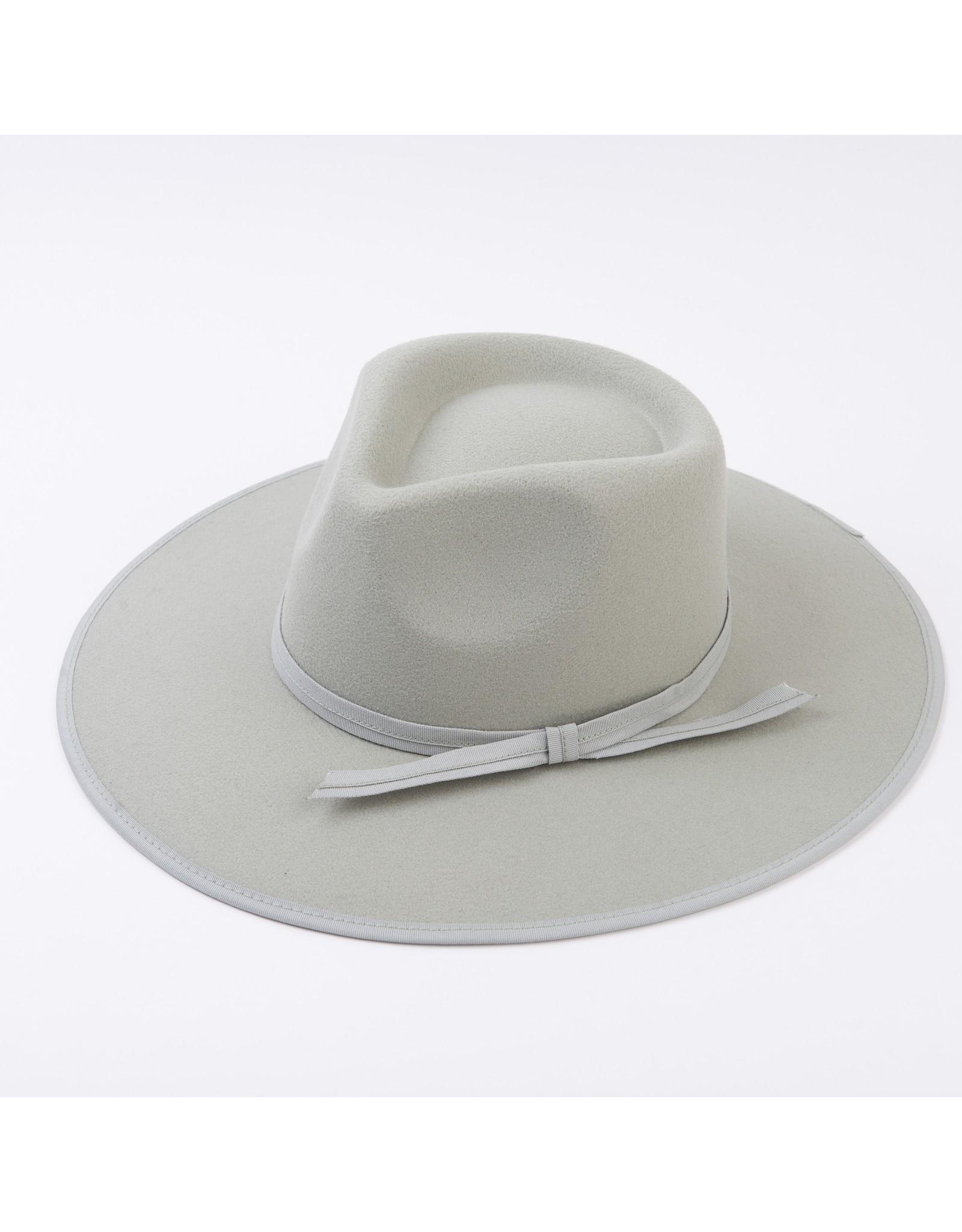 Lucca Couture Dylan Vegan Felt Rancher Hat, Wavy Brim/Mint