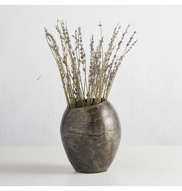 47th & Maine Grey Metal Vase