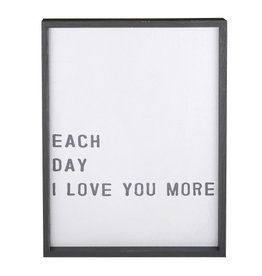 facetoface Wooden Frame, Love You