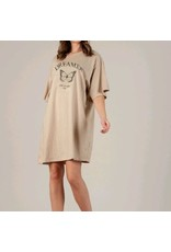 Dreamer T-Shirt Dress, White/Butterfly
