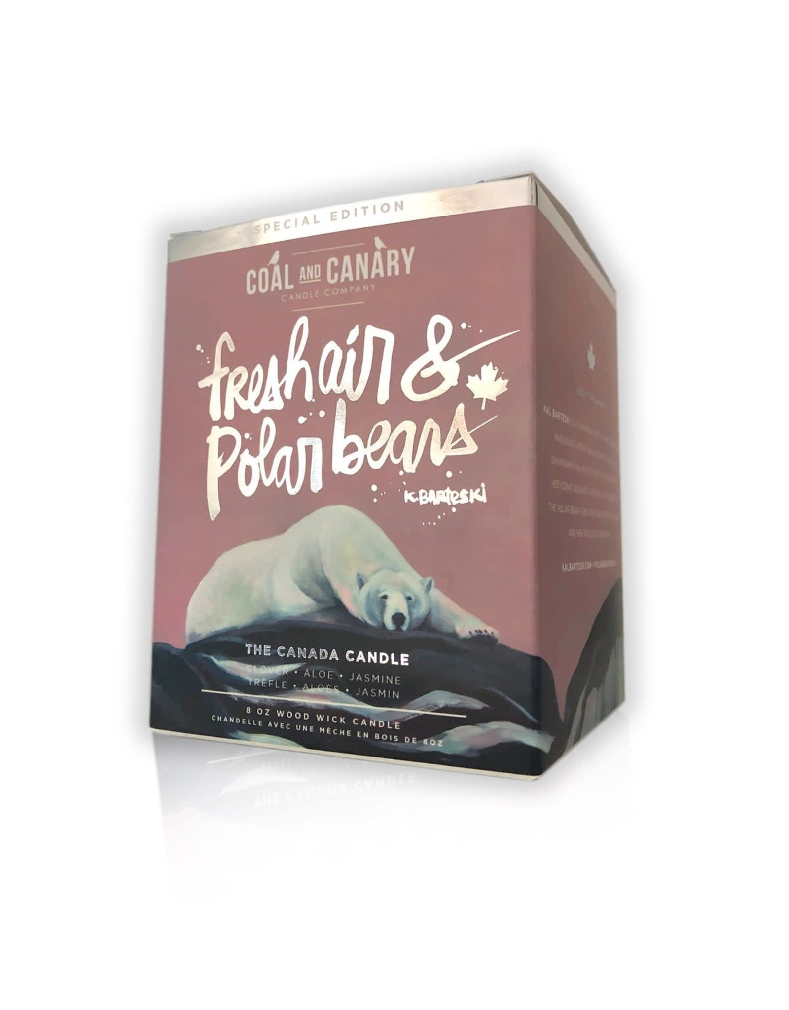 Coal&Canary Fresh Air & Polar Bear-The Canadian Candle