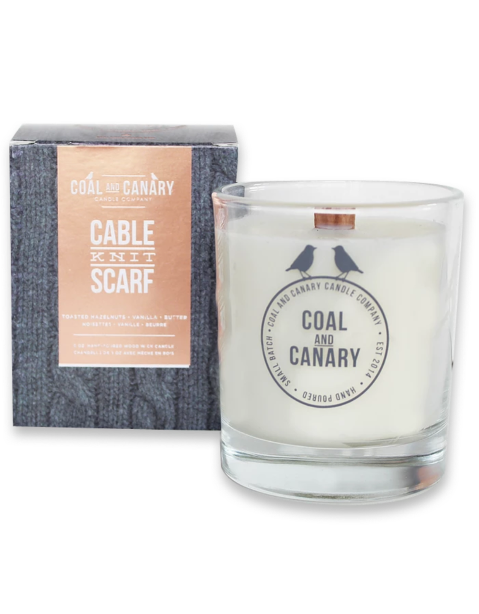 Coal&Canary Cable Knit Scarf Candle