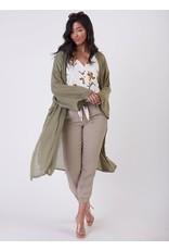 Long Sleeves Oversized Super Fine Gauche Cardigan, Pistachio