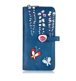 Spring Clutch Wallet, Blue