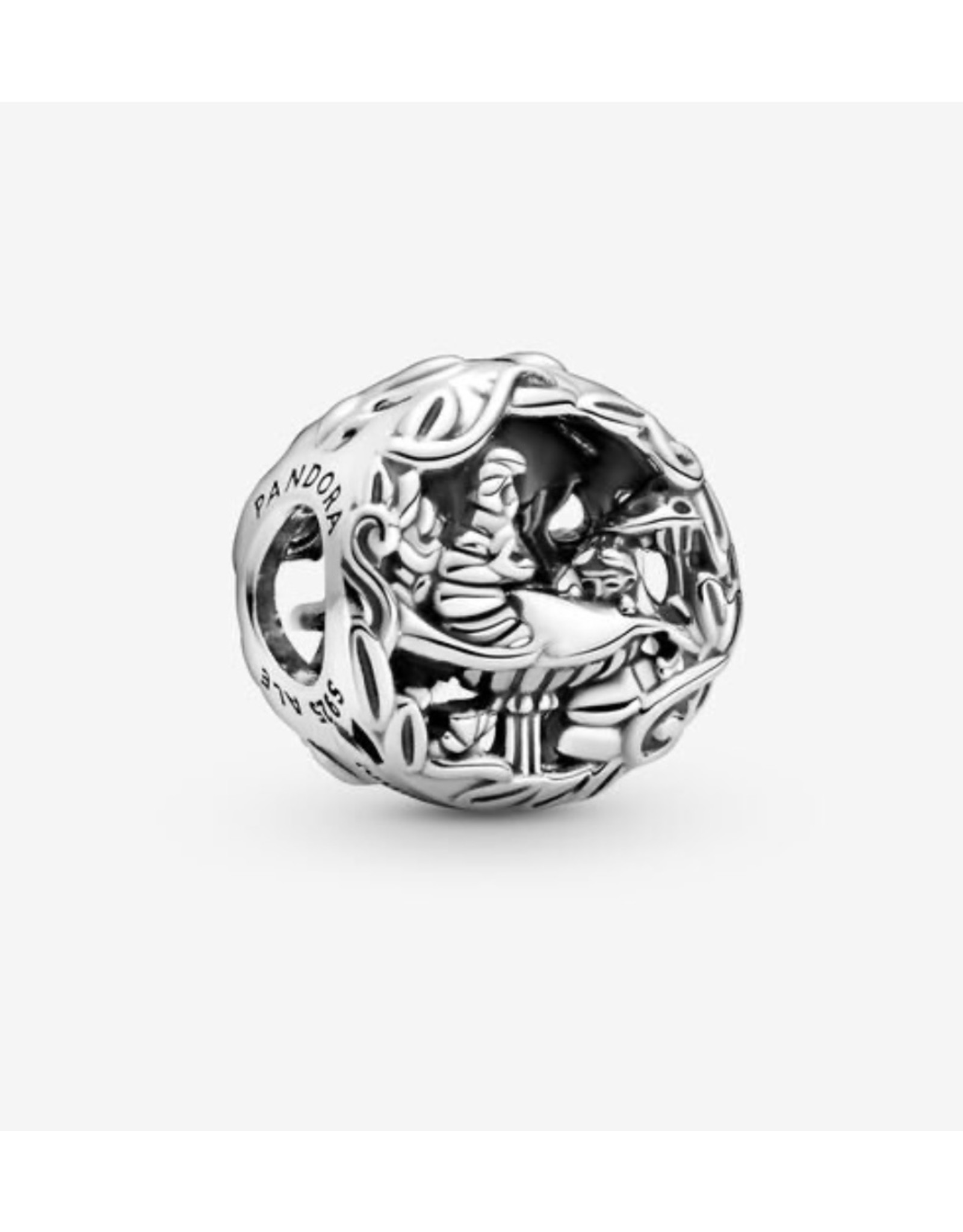 Pandora Pandora Charm,799361C00, Disney Alice In Wonderland, Cheshire Cat & Absolen Caterpillar