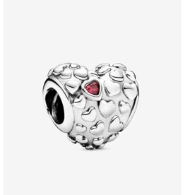 Pandora Pandora Charm,797781CZR, Mom Heart, Silver