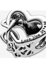 Pandora Pandora Charm,798825C00, Heart and Infinity