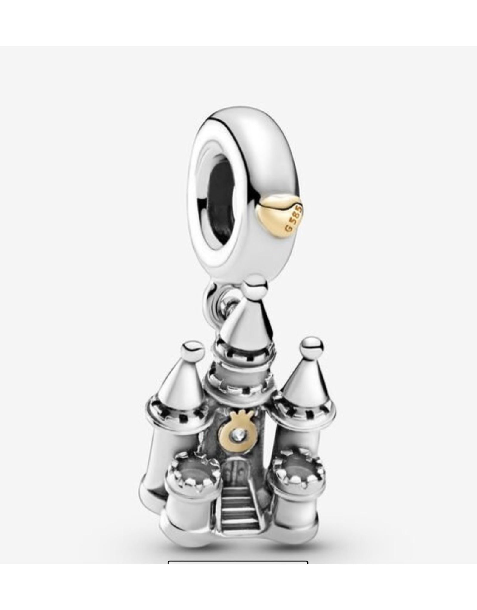 Pandora Pandora Charm,799337C00, Two-Tone Castle,14K Gold