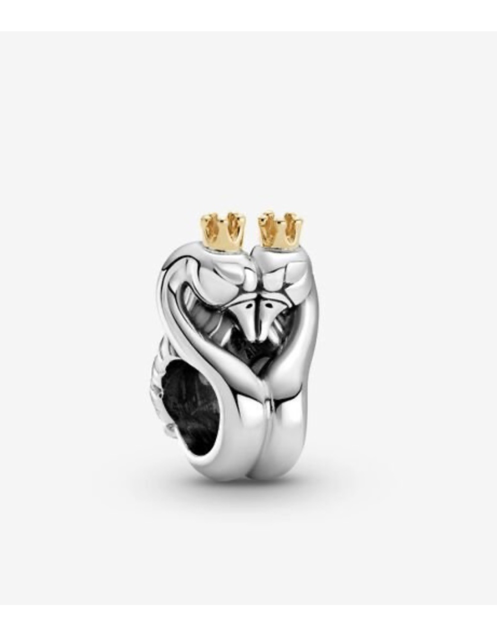 Pandora Pandora Charm,799315C00, Two-Tone Swans & Heart,14K Gold