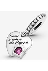 Pandora Pandora Charm,799324C01, Love My Home, Pink Emanel