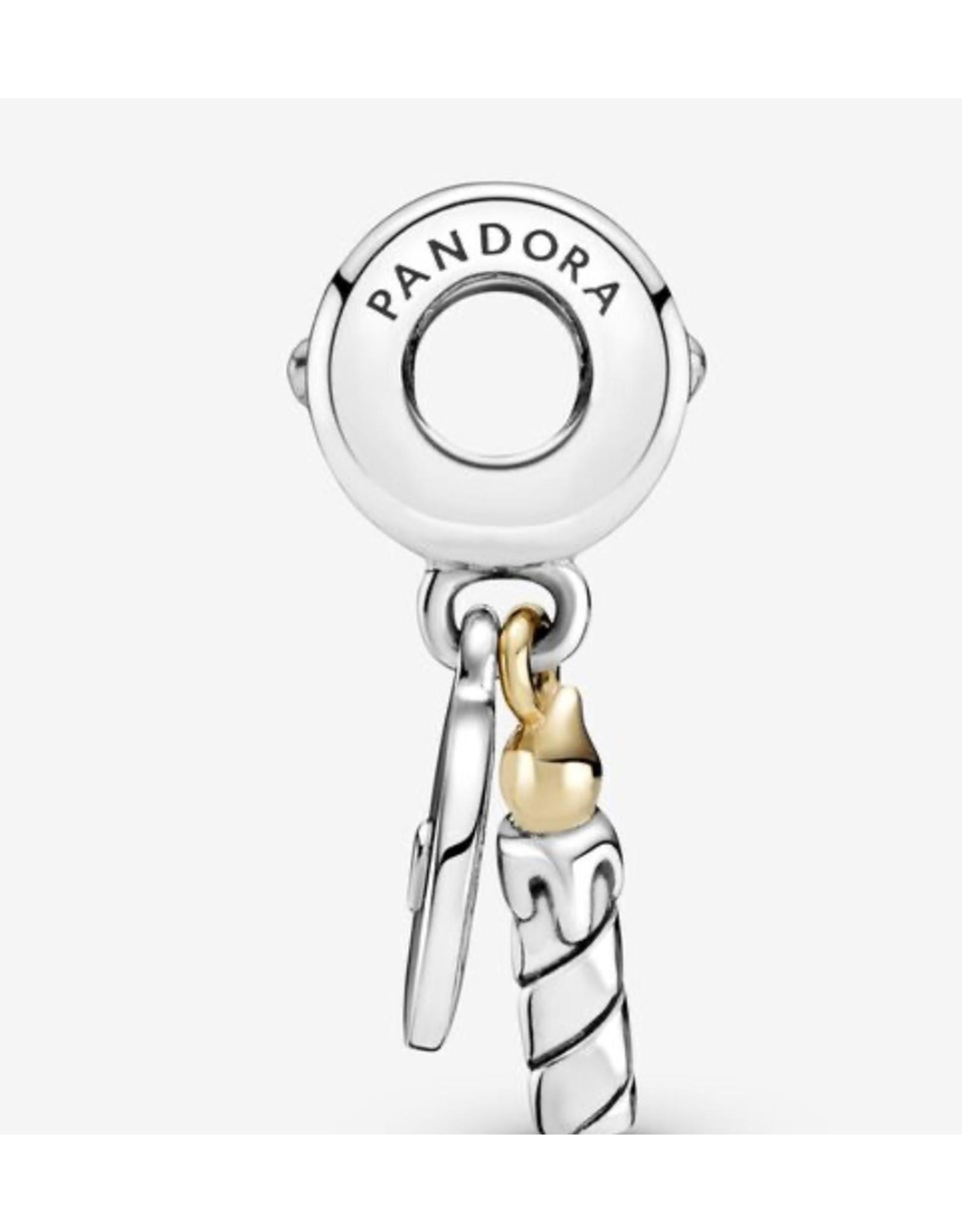Pandora Pandora Charm,799328C00, Two-Tone Birthday Candle, 14K Gold