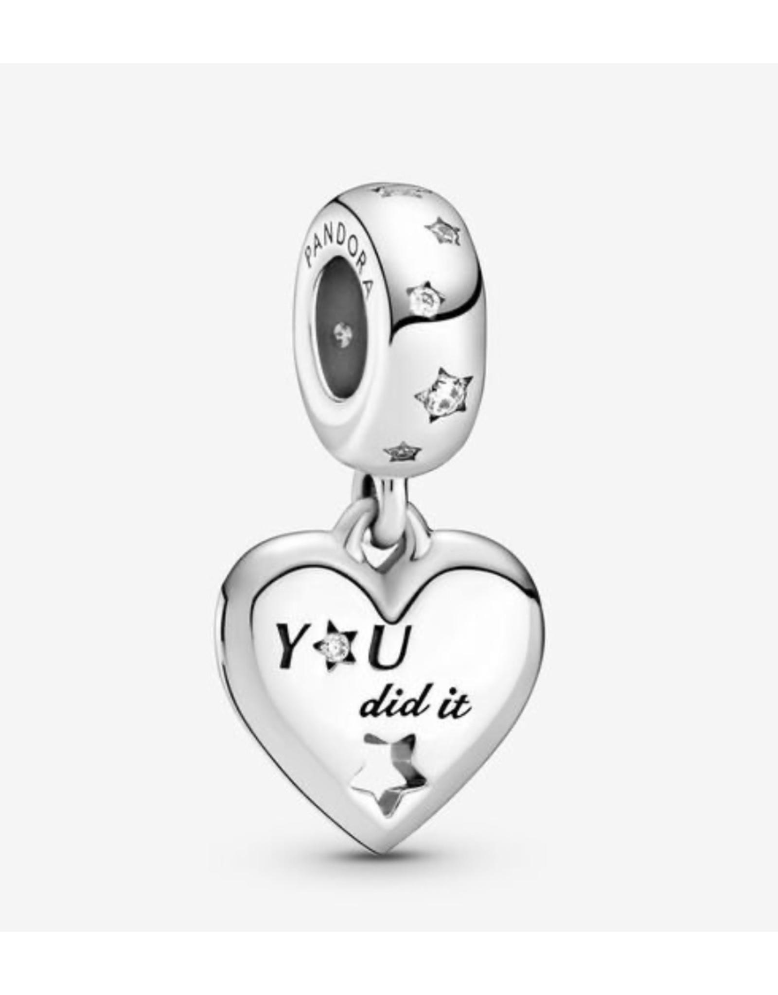 Pandora Pandora Charm,799323C01, Congratulations Heart & Stars