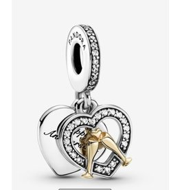 Pandora Pandora Charm,799322C01, Two-Tone Happy Anniversary, 14K Gold