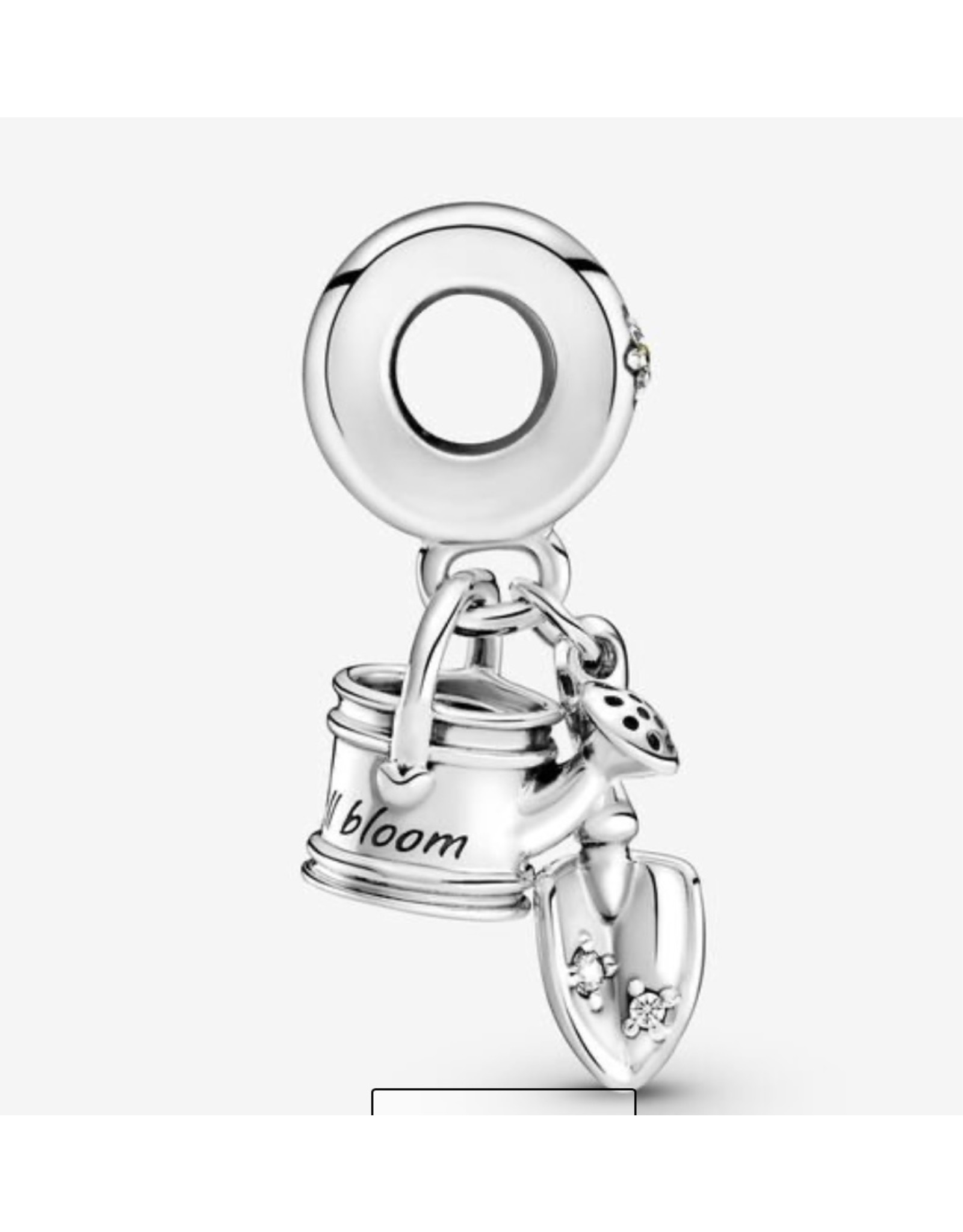 Pandora Pandora Charm,799359C01, Watering Can & Trowel, Yellow Crystal & Clear CZ