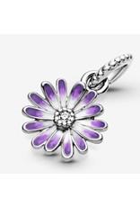 Pandora Pandora Charm, 798771C01, Purple Daisy, Mixed Enamel & ClearCZ