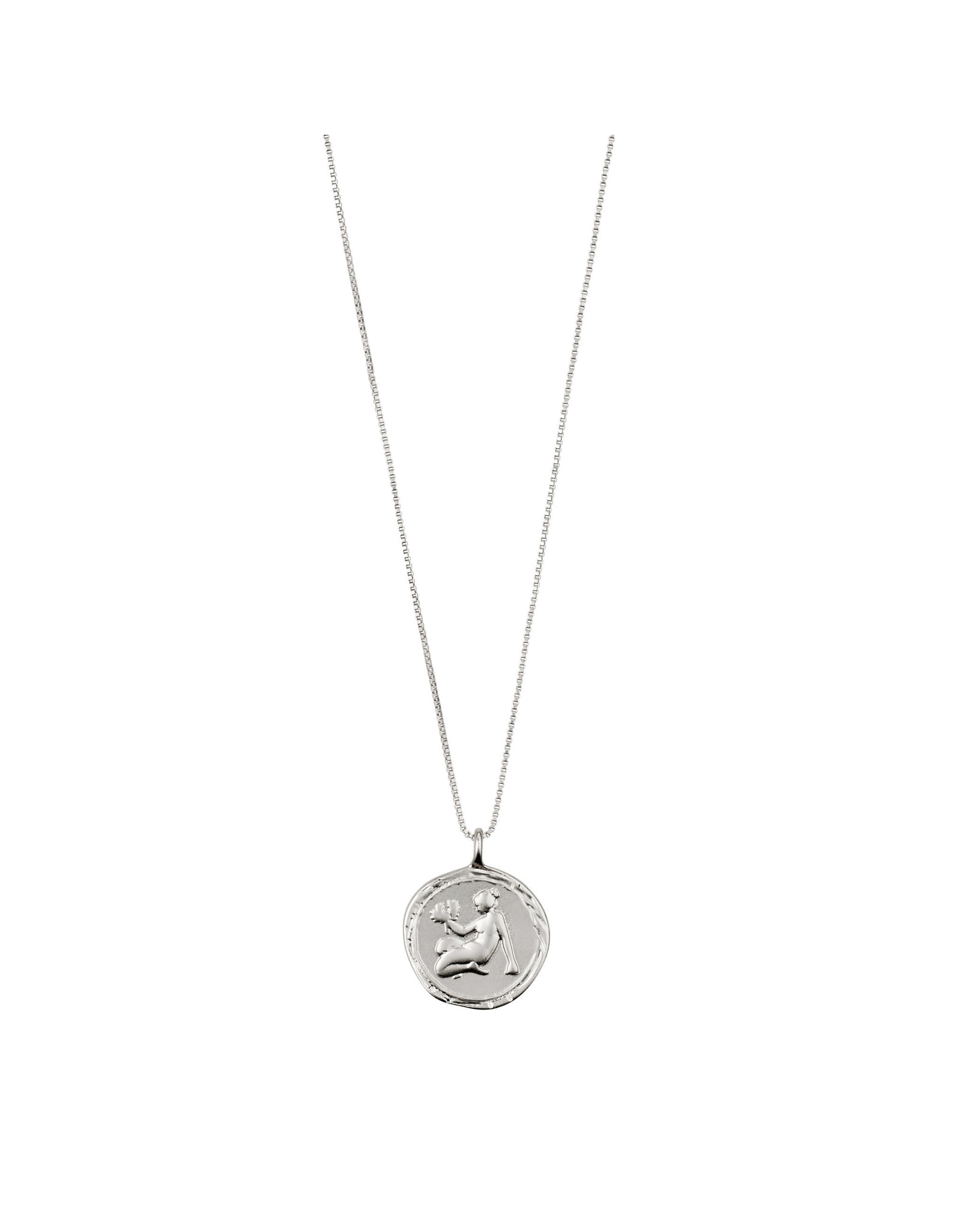 Pilgrim Necklace Virgo Zodiac Sign, Crystal, Silver