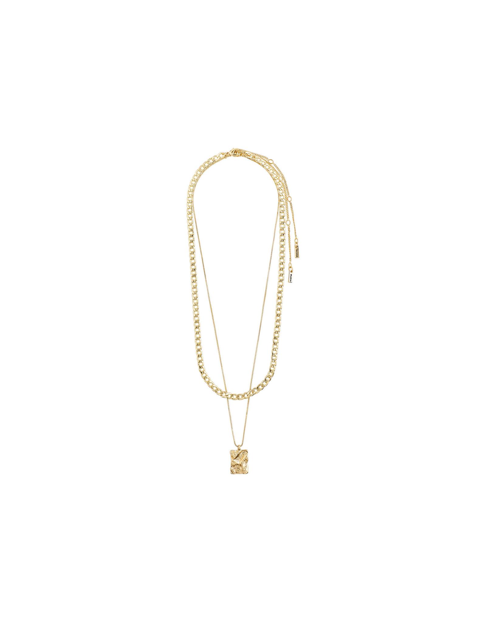 Pilgrim Necklace Bathilda 2 In 1, Gold Plated