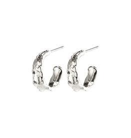 Pilgrim Earrings Bathilda Hoops, Silver Plated