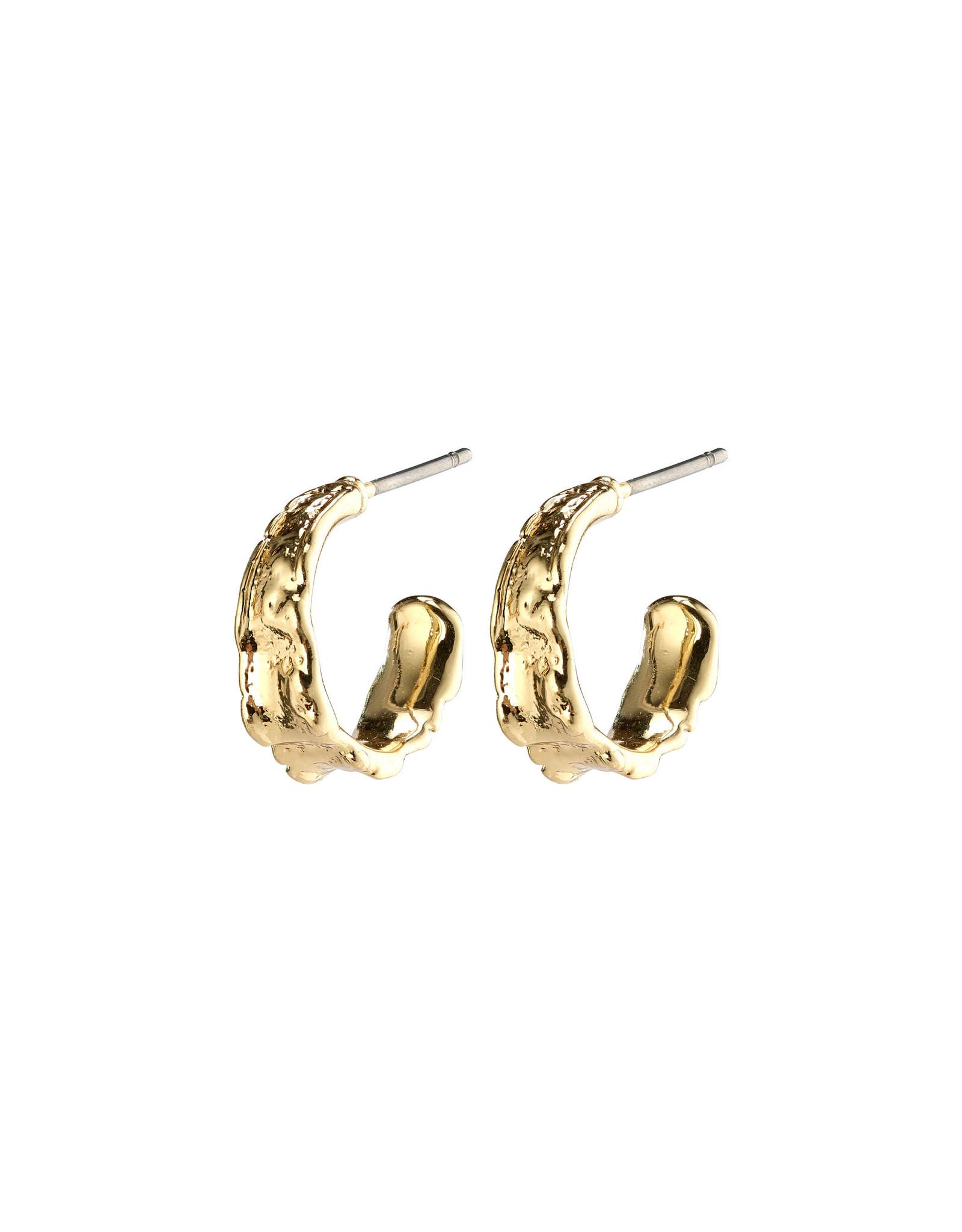 Pilgrim Earrings Bathilda Hoops, Gold Plated