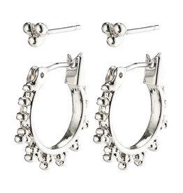 Pilgrim Earrings Kate 2 In a Set, Silver Plated