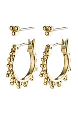 Pilgrim Earrings Kate 2 In A Set, Gold Plated