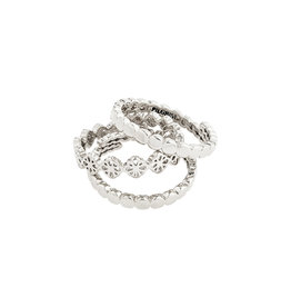Pilgrim Ring Cherished, Silver Plated