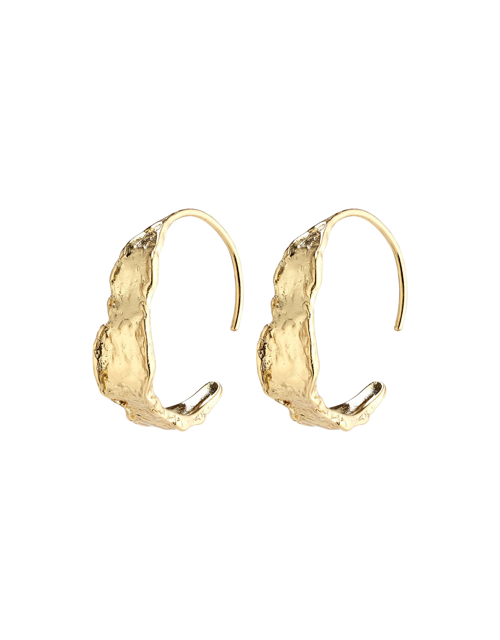 Pilgrim Earrings Compass Hoops, Gold Plated