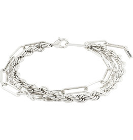 Pilgrim Bracelet Simplicity 2 In A Set, Silver Plated