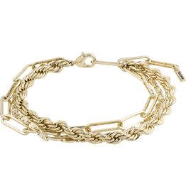 Pilgrim Bracelet Simplicity 2 In A Set, Gold Plated