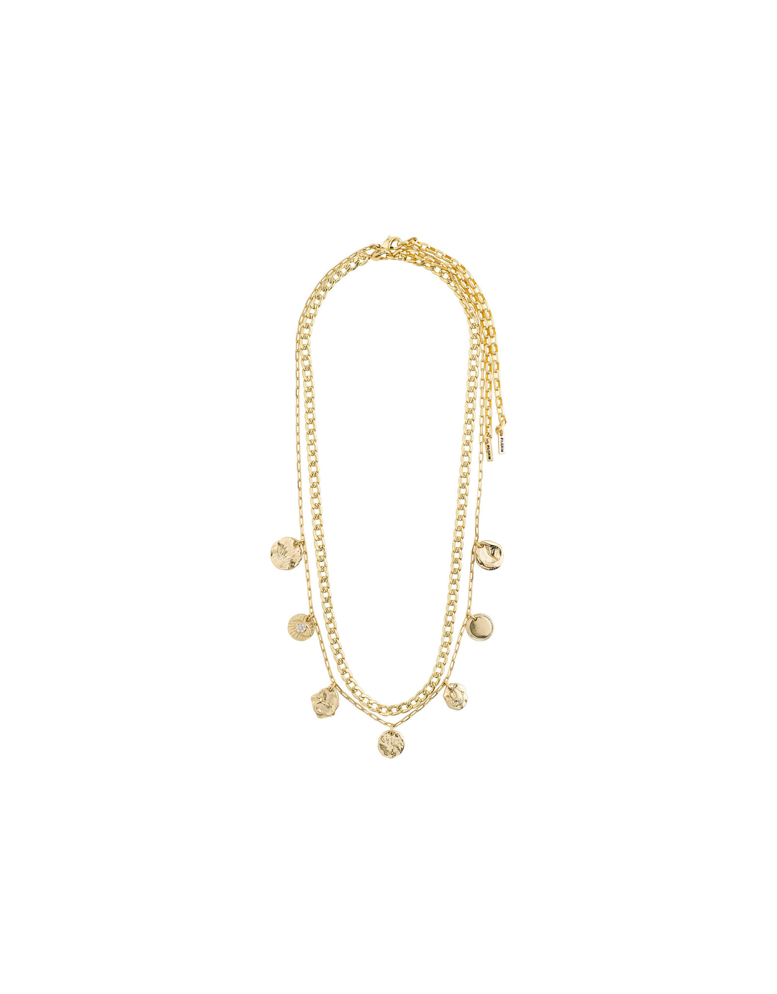 Pilgrim Necklace Poesy 2 In 1, Gold Plated