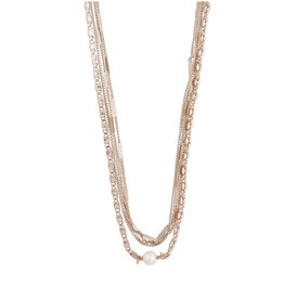 Pilgrim Necklace Katherine Layered 2 In 1, Rose Gold Plated